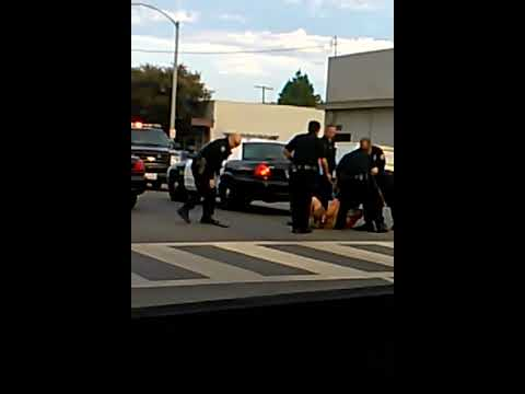 Long beach police beat man and knock his teeth out