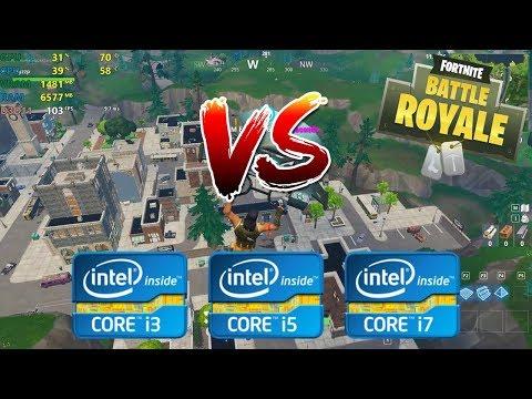 intel Core i3 vs i5 vs i7   Fortnite Battle Royale - 1080p Competitive settings [4th gen]
