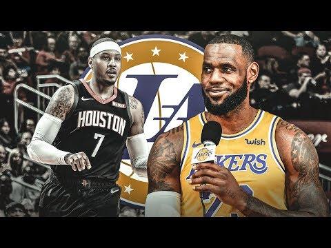 LeGM Wants Carmelo Anthony On The Lakers? 2018-19 NBA Season