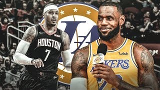 LeGM Wants Carmelo Anthony On The Lakers? 2018-19 NBA Season