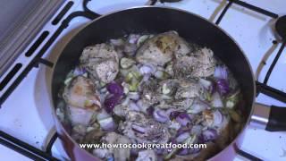 Italian Chicken Mushroom Garlic Tomato Recipe - How To Cook Great