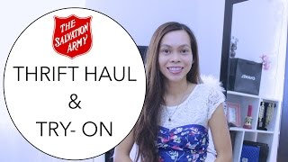Thrift Haul & Try-on   Salvation Army