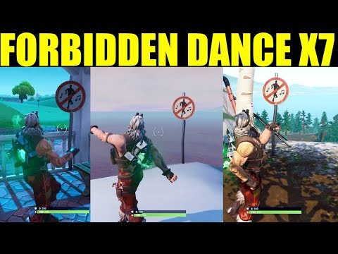 Dance In Different Forbidden Locations ALL 7 Forbidden Locations Fortnite Battle Royale (Season 7)