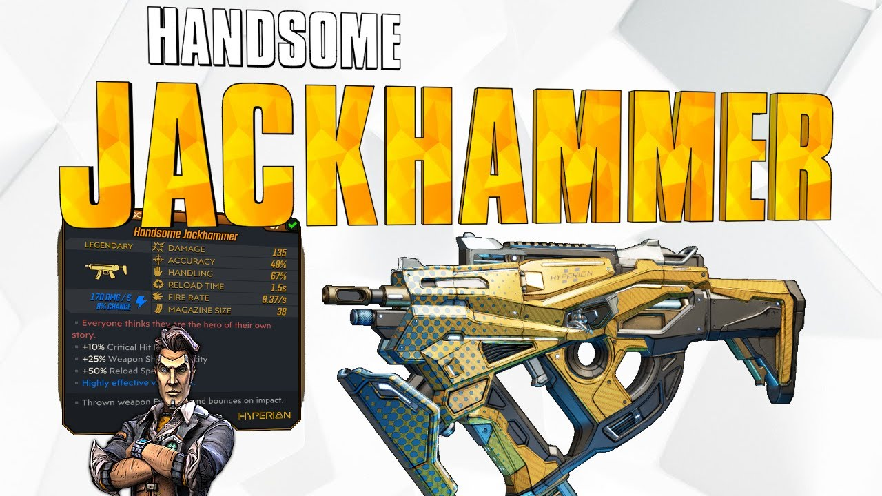 Borderlands 3 - Handsome Jack Gun. Legendary Jackhammer ...