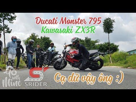 [PKL cạ gối] Kawasaki ZX3R - Ducati Monster 795