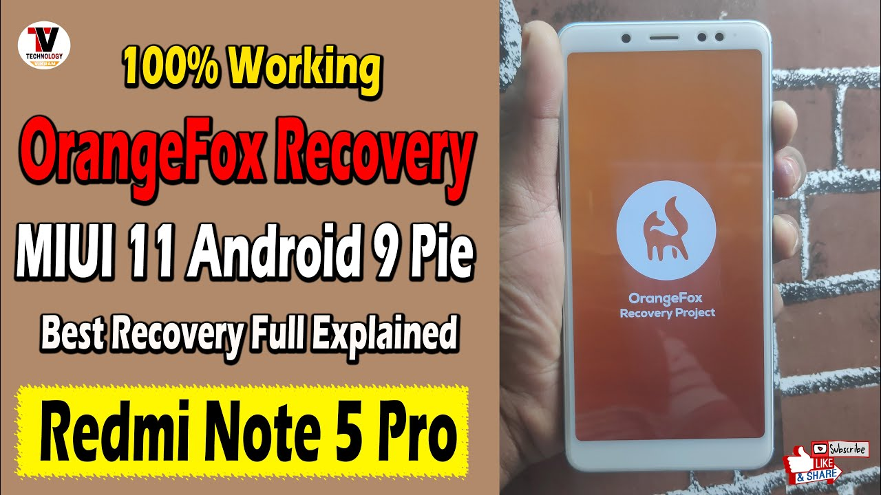 Install Orangefox Recovery Twrp On Redmi Note 5 Pro Miui 11