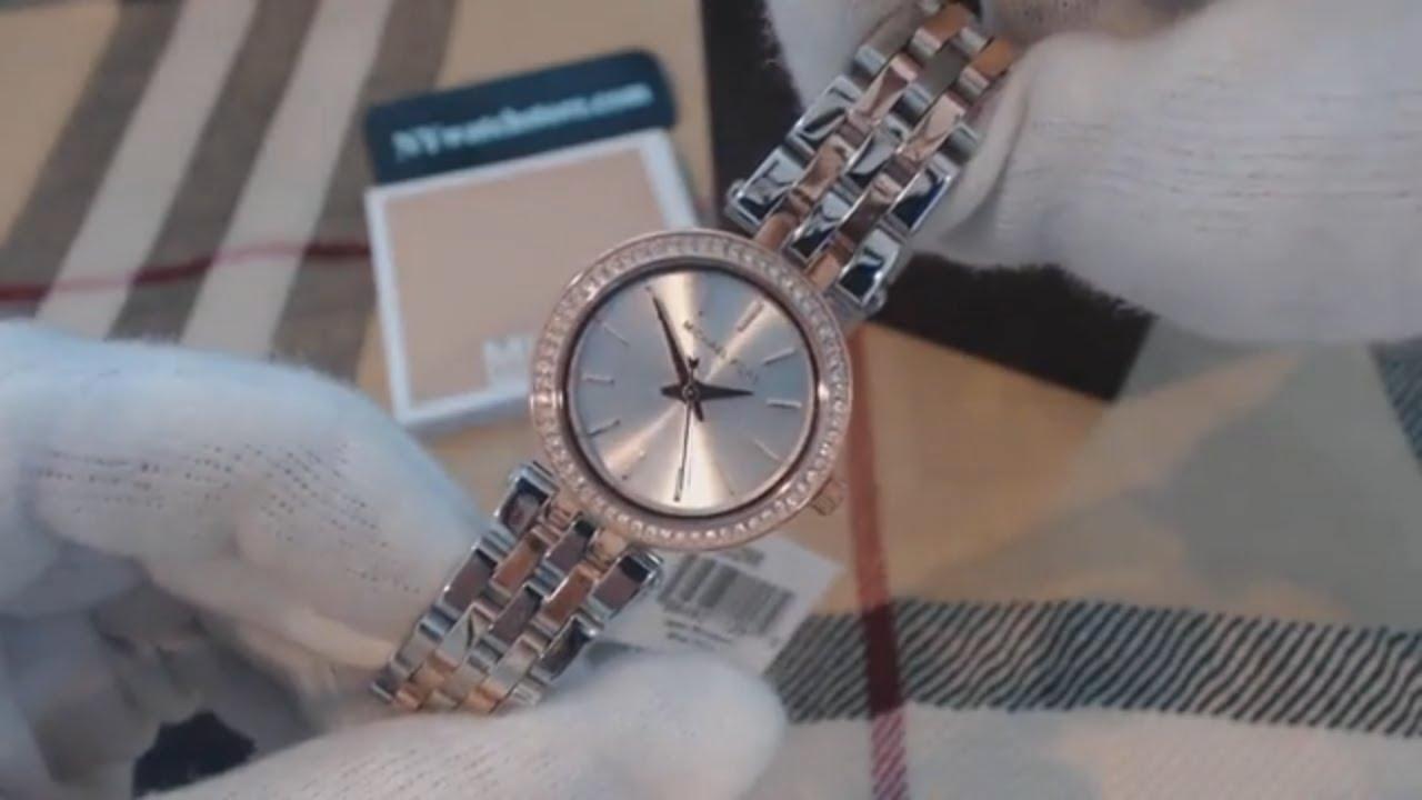 Women's Two Tone Michael Kors Petite Darci Glitz Watch MK3298