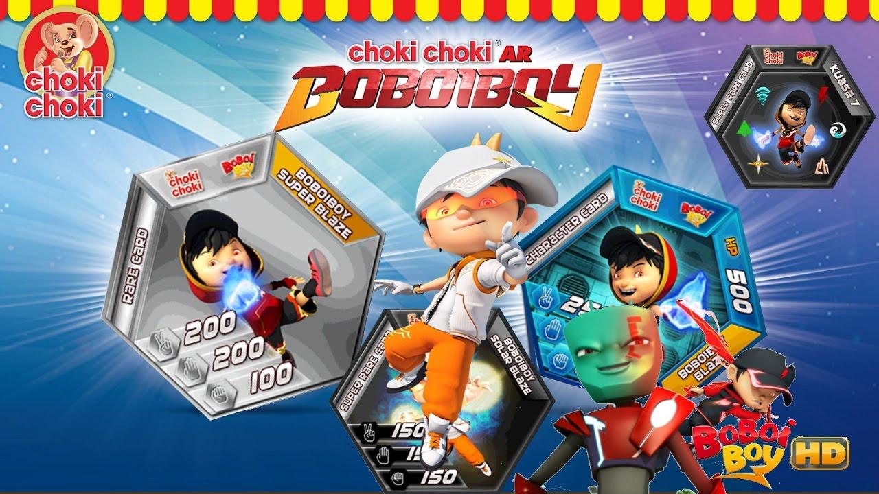 Choki Choki Ar Boboiboy Kuasa 7 Super Boboiboy Blaze Solar Blezz