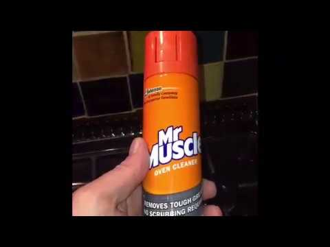 Mr Muscle Oven Cleaner Review with results  with Simon Iles