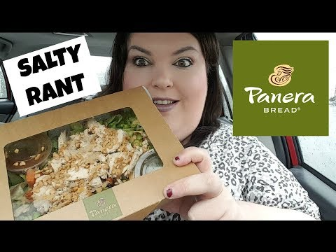 PANERA BREAD THAI CHICKEN SALAD CAR MUKBANG