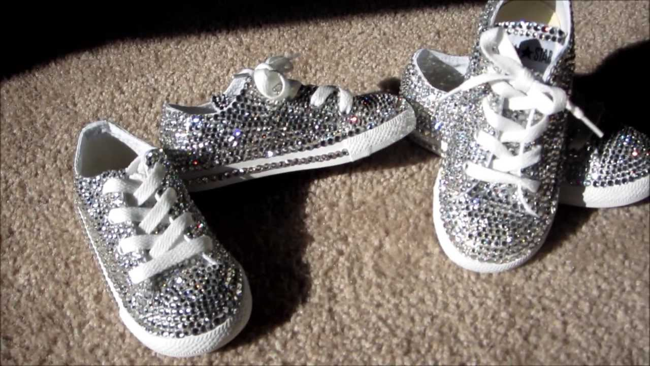 7f59aed4c9f608 Custom Crystal Converse All Stars - YouTube