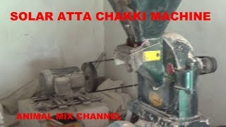 Solar atta Chakki Machine 15 Hp Motor 48 Panels  Wheat Grinder in Punjab