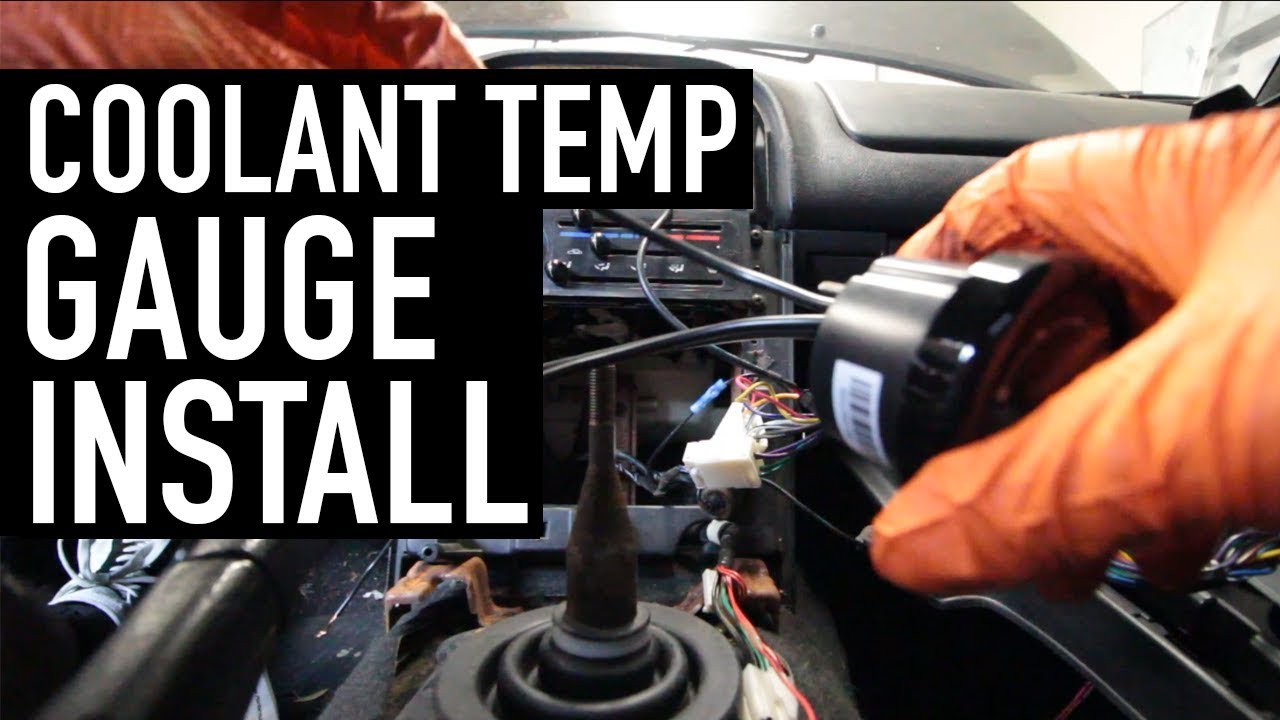 Installing an aftermarket coolant gauge in the Miata
