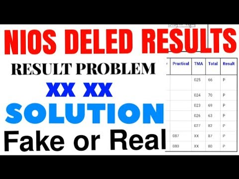 Nios Result Problem || XX, AB, SYCP SYCI solution || all trainee must watch
