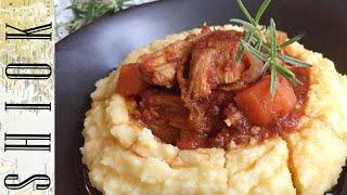 Italian stew with polenta