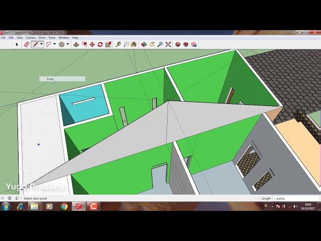 Rumah 6x8 teknik pemula, atap rumah