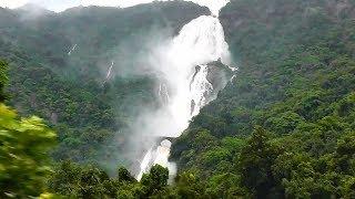 Dudhsagar Waterfalls in full flow - 12779 Goa Exp. (July 18, 2017)
