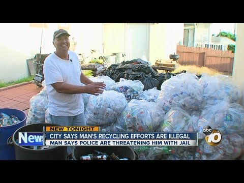 City says man's recycling efforts are illegal