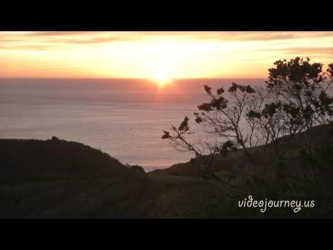 Big Sur sunset. California. Закат на Западном побережье США. Биг Сюр.