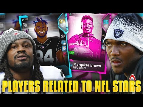NFL SUPERSTARS RELATED TO OTHER NFL PLAYERS! FAMILY TREE LINEUP! Madden 19 Ultimate Team