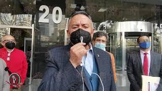 SME Ratificación de la denuncia contra Felipe Calderón en la FGR 1dic2020