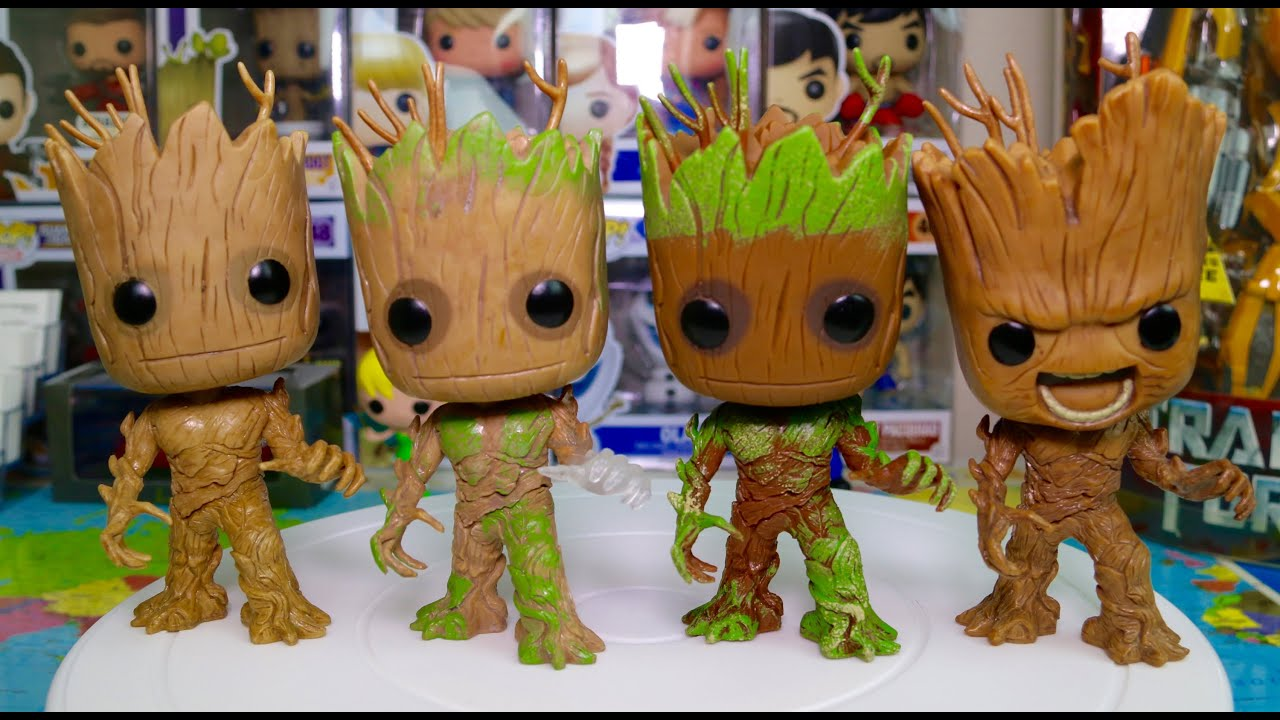 Funko Pop Gotg Groot Collection Angry Groot Extra Moss