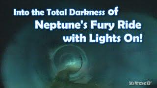 Neptune's Fury Water Slide - Lights On using Flashlight - Raging Waters Water Park