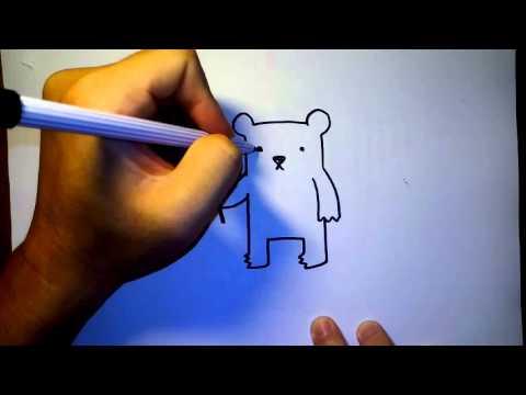วาดการ์ตูน กันเถอะ สอนวาดรูป การ์ตูน หมี แบบง่ายๆ