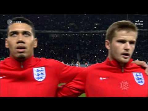 Englische Hymne vorm Fußball Testspiel Deutschland-England 26.03.16 - Gruß von Matthias