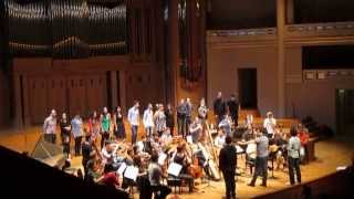 Rehearsal in the Palais des Beaux-Arts (BOZAR) in Brussels