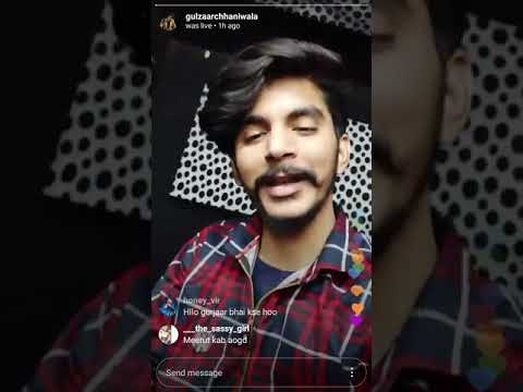 Gulzaar Chaniwala    Live Video Chat    And Discuss About Next Song    Watch The Video Till End
