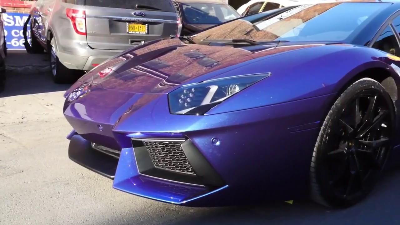 First Lamborghini Aventador Liquid Wrap In The U S Youtube