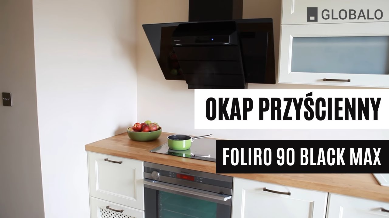 Okap przy cienny kominowy globalo foliro 90 black max Amica com reviews
