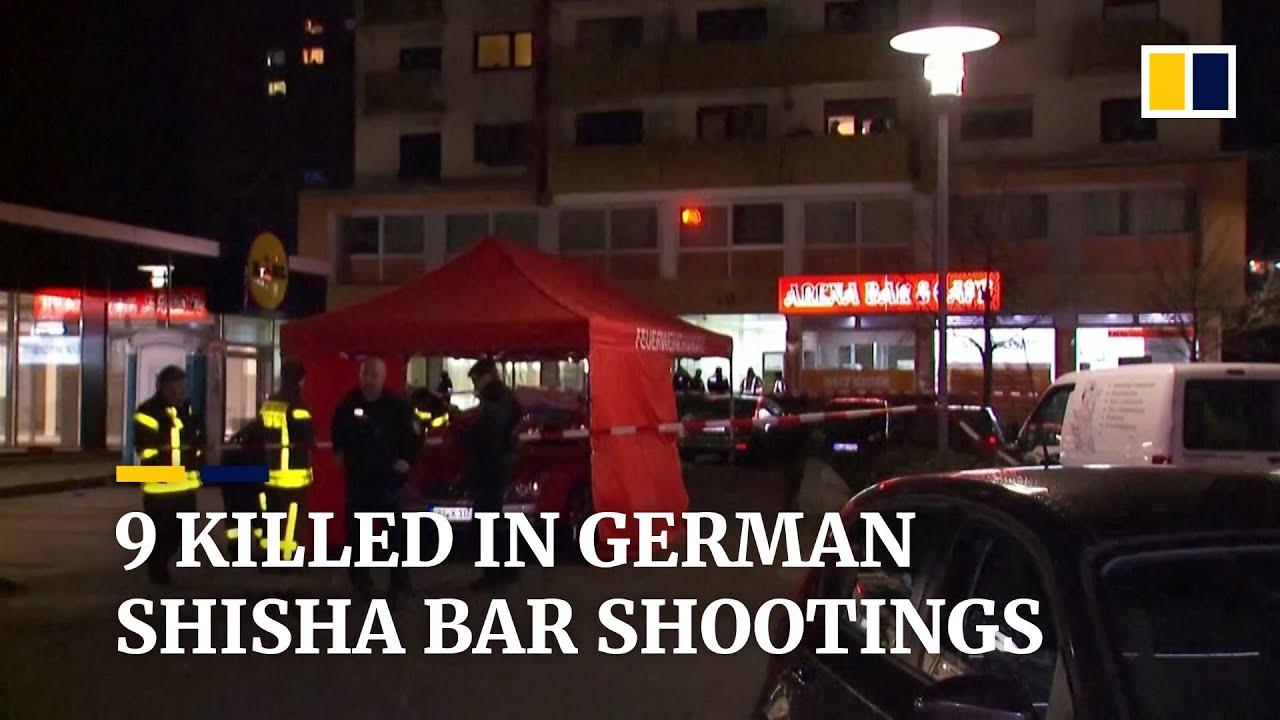 At least nine people killed in shisha bar shootings in