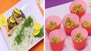 بالفيديو.. سمك السالمون بالليمون مع الأرز البسمتي للشيف أميرة شنب