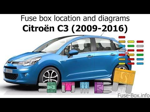 fuse box location and diagrams citroen c3 (2009 2016) youtube Citroen C4