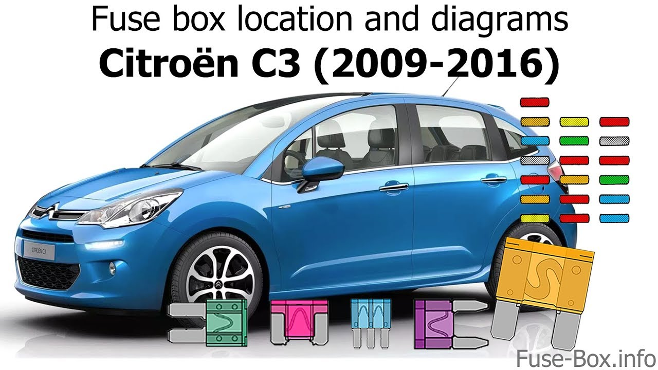 Fuse Box Location And Diagrams  Citroen C3  2009