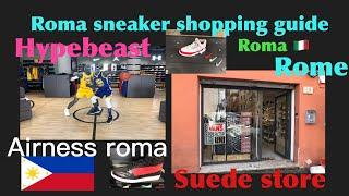 Rome italy Sneaker shopping,hypebeast.,street wear episode#2.roma italia negozio di streetwear.