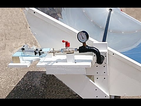 Parabolic Trough Mirror: Steam Turbine load test & Solar Tracker in action!