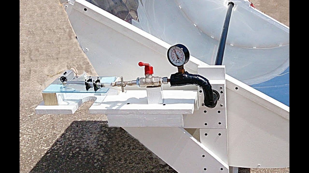 Parabolic Trough Mirror Steam Turbine Load Test Amp Solar