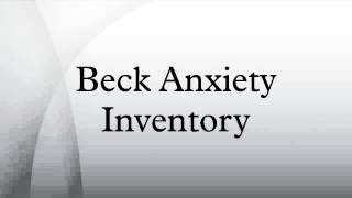 Beck Anxiety Inventory