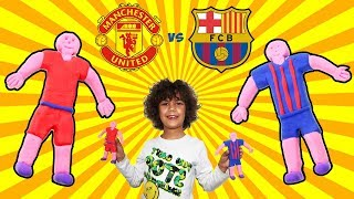 Softy Melmito Slime Crea Giocatori Calcio *Manchester United vs Barcellona*