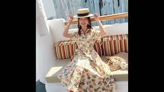 Женское длинное платье рубашка с ананасовым принтом элегантные повседневные вечерние платья в стиле