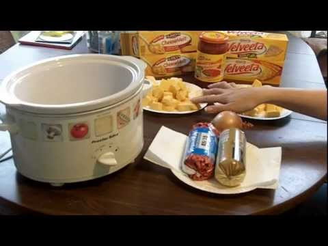 TUTORIAL COOKING NACHOS w meat, cheese, tomatoes GUNPOWDER RECIPE crock pot