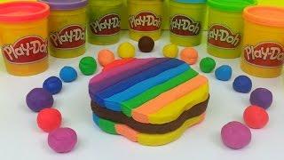 Play Doh How To Make Rainbow Ice Cream Sandwich Playdough Easy Thumbnail