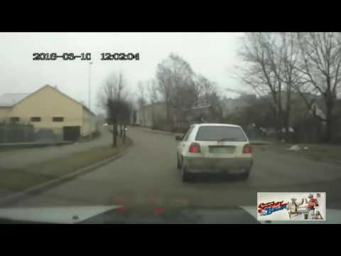 Latvian Police detain a drunk driver.