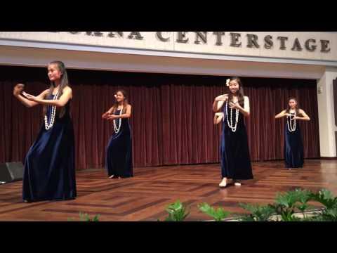 M Iolani School hula performance May 22, 2017