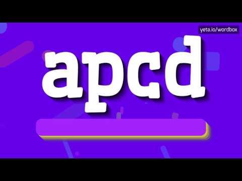 APCD - HOW TO PRONOUNCE IT!?