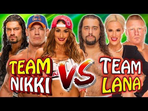 John Cena & Nikki Bella & Roman Reigns vs. Lana & Rusev & Brock Lesnar (WWE 2K17 PC Mods)