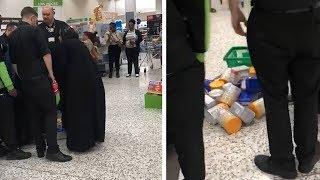 Woman accused of shoplifting using her abaya